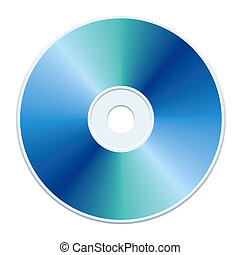 Blank blue compact disc