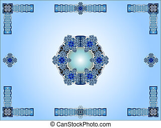 Blue celtic ornamental design