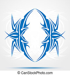Blue celtic tattoo. Tribal for tattoo saloons.