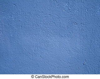 Blue cement wall - Textured azure blue cement or stucco...