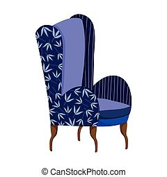 blue chair furniture comfort isolated icon