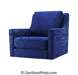 blue chair isolated on white background