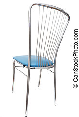blue chair on a white background
