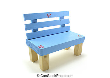 blue chair on a white background.