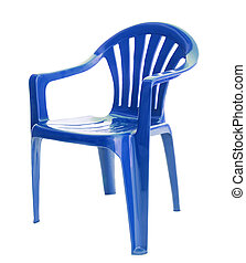 blue chair on white