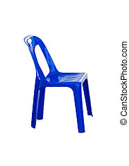 blue chair plastic Isolated on white background