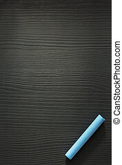 blue chalk on wood