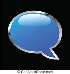 Blue Chat Bubble Icon