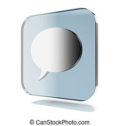 Blue chat icon