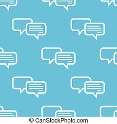 Blue chatting pattern - Vector pattern with two chat...