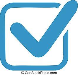 Blue check in box