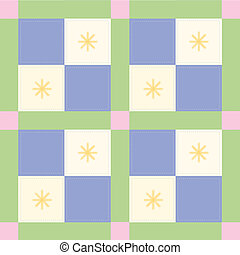 Blue Check Pattern - baby quilt pattern