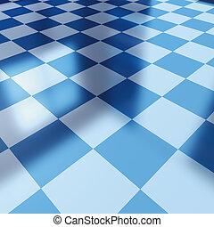 Blue checker board