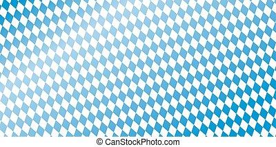 blue checkered Oktoberfest banner