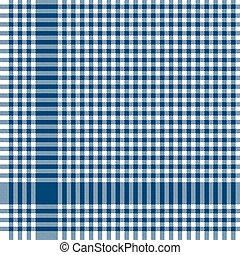 blue checkered table cloth pattern