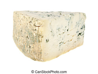 Blue cheese isolated on a white background