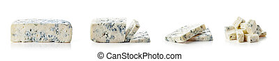 Blue cheese isolated on white