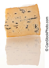 Blue cheese isolated over white background