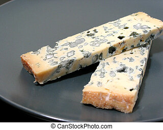 Blue cheese on a plate