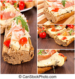 Blue cheese sandwich - Fresh sandwich with blue cheese on...