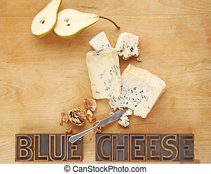 Blue cheese with copy space