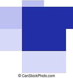 Blue chicken on white background