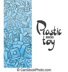 Blue children's designer on a white background - Various...