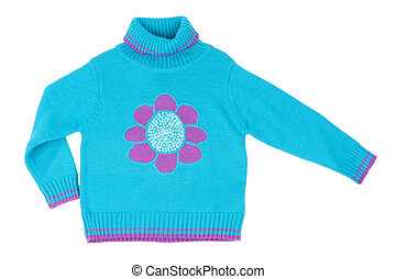 Blue children's knitted sweater