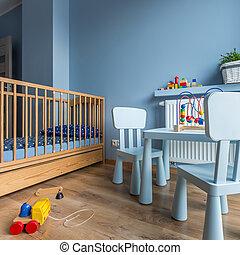 Blue child's room idea