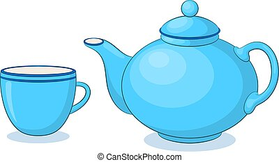 China Teapot and Cup