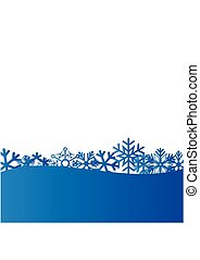 Blue Christmas and New Year background with snowflakes for text. Vector Illustration