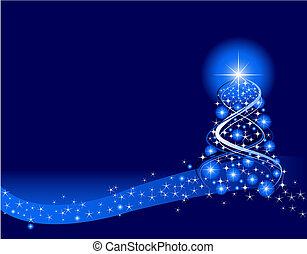 Christmas Background - Blue Christmas Background. Created in...