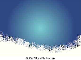 Blue Christmas background - Illustration, Vector EPS 10.
