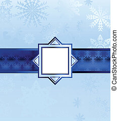 Blue Christmas Background. Vector