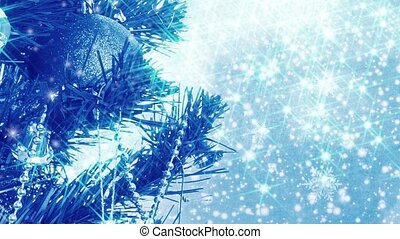 blue christmas background with ball