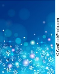 Blue christmas background with snowflakes. elegant illustration.