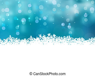 Blue christmas background with snowflakes. EPS 8