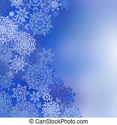 Blue christmas background with snowflakes and copy space. EPS 8 vector file included