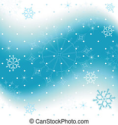 Blue christmas background with snowflakes (vector)