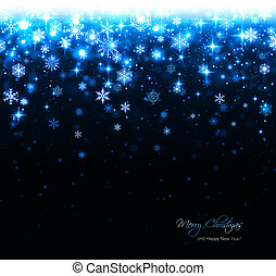 blue christmas background with star