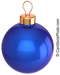 Blue Christmas ball bauble classic