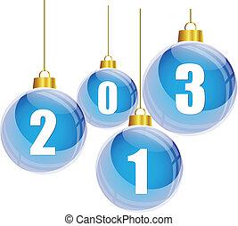 Blue christmas balls 2013