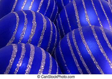 blue christmas balls background