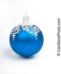 blue christmas balls .