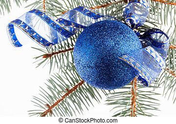 Blue christmas bauble