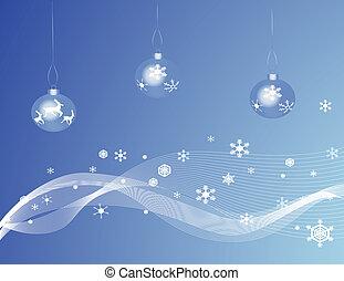 Blue Christmas Baubles
