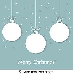 Blue Christmas baubles - Christmas baubles blue background....