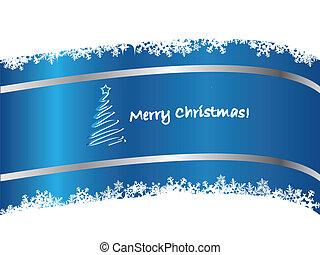 Blue Christmas card 2