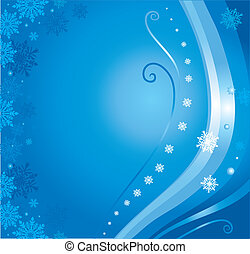 blue christmas card background 3