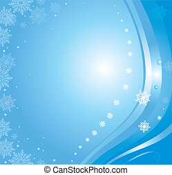 blue christmas card background 4
